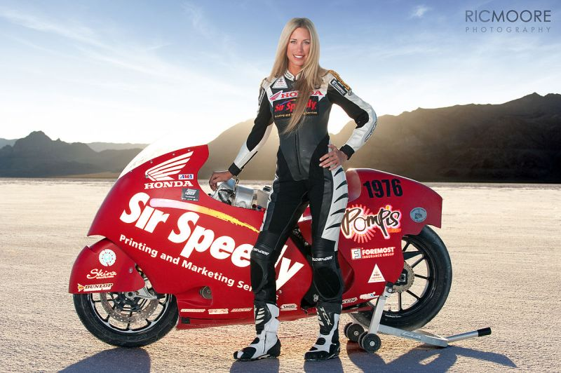 Fastest woman on two-wheels