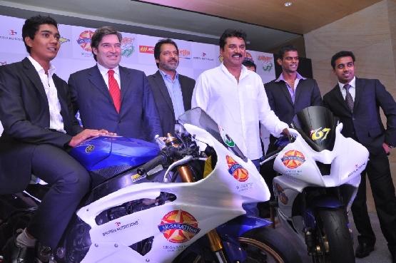 S. Sarath Kumar and Rajini Krishnan with Actor, R. Sarath Kumar and Jaime Serrano, Monlau Competicion