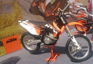 KTM grabbed a lot of attention with this: the 350 SX-F, and the RC8 and Duke twins