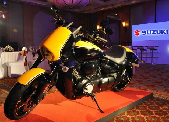 Suzuki Intruder M1800 B.O.S.S edition on display during the Suzuki Biking Lords launch event web1