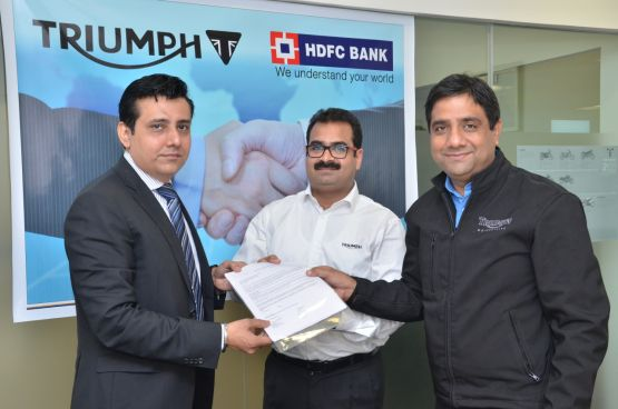 Triumph and HDFC finance tie up web