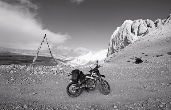 web KTM 690 on route to Lo Manthang, upper mustang