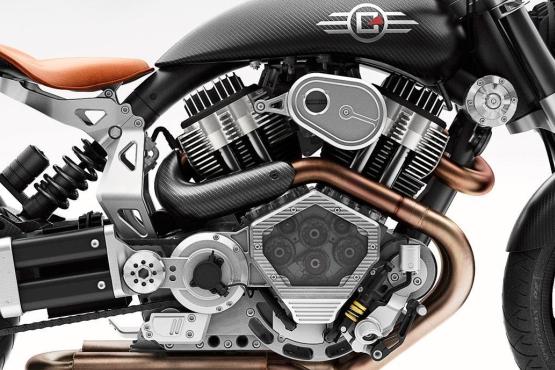 Confederate X132 Hellcat Speedster engine web