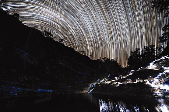 Stellar Startrail, Fortescue Falls, Karijini National Park Australia web