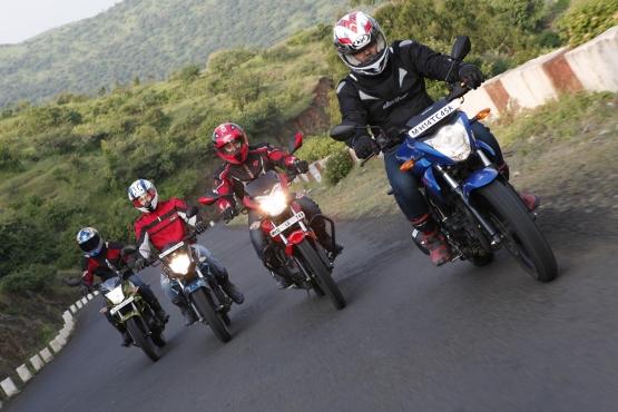 Suzuki Gixxer v Yamaha FZ-S v Honda CB Trigger v Hero CBZ Xtreme (1) (555x370)