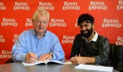 L-R Steve Harris, Director Harris Performance with Siddhartha Lal, CEO Royal Enfield  (555x367)