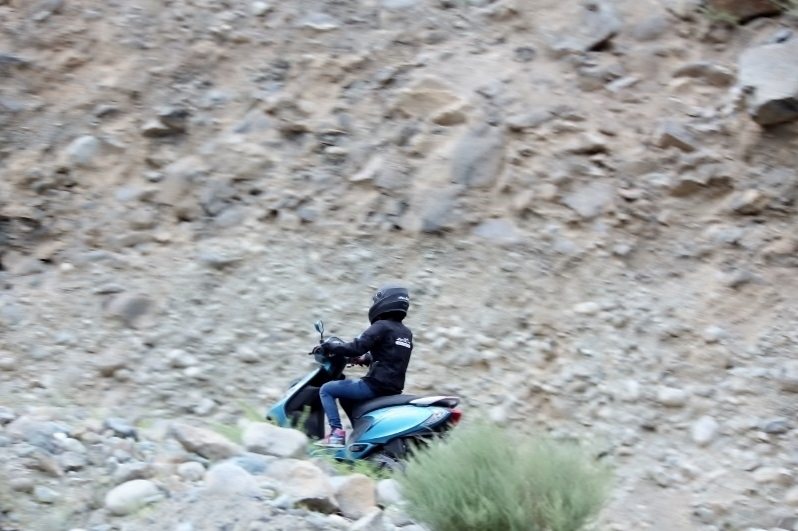 Anam Hashim and the TVS Scooty Zest 110 in Ladakh (4)