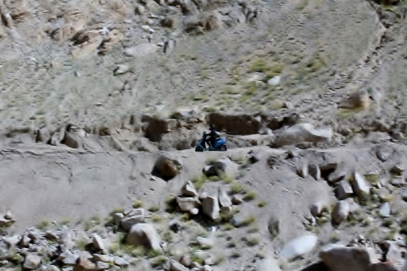 Anam on the TVS Scooty Zest 110 in Ladakh (4)