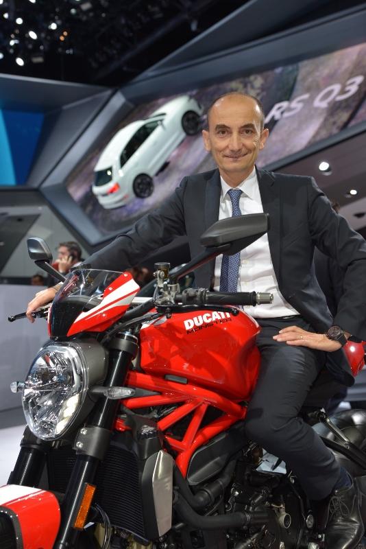 Domenicalli on the Ducati Monster 1200 R