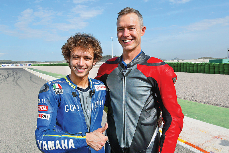 Roland Brown (Right) with the 'Doctor' Valentino Rossi