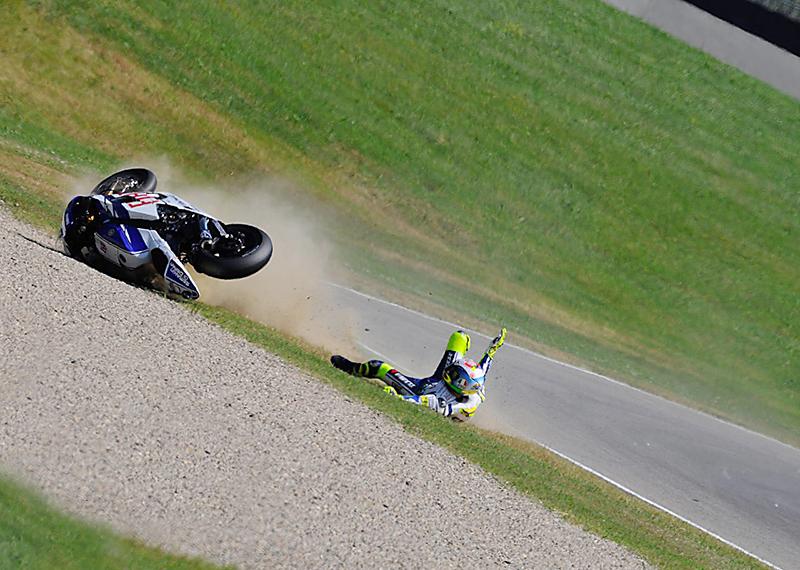 2010 - Italian-GP, Mugello where Rossi broke his leg