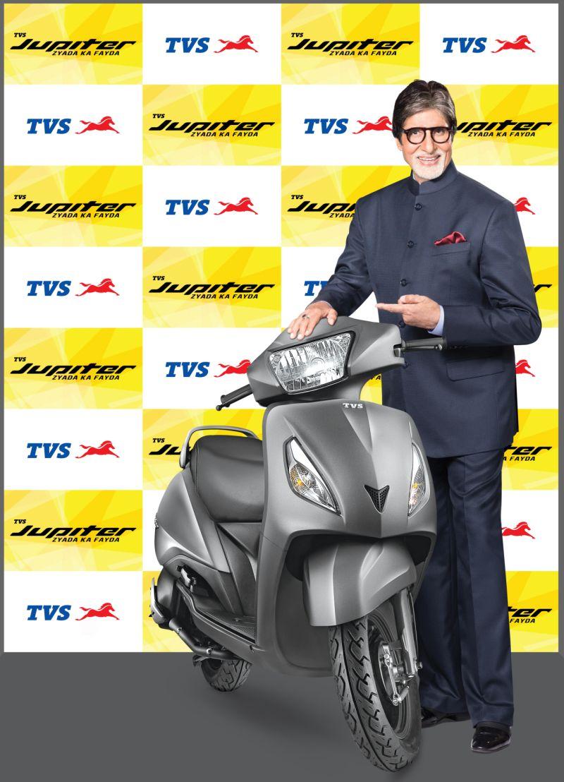 Amitabh Bachchan with TVS Jupiter WEB