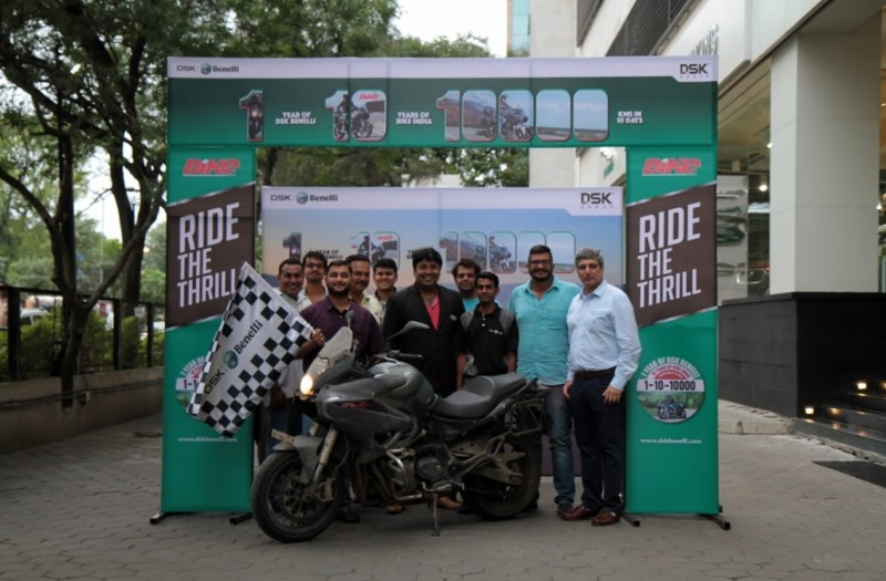Team Bike India and the Benelli TnT 600GT after being flagged in on the 10th day