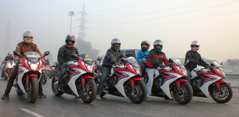 Revving up the CBR 650F for the Winter Big-Bike Weekend Ride web