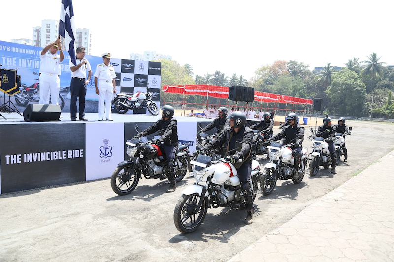 Indian Navy partners with the Bajaj V for an Invincible Ride (1) web