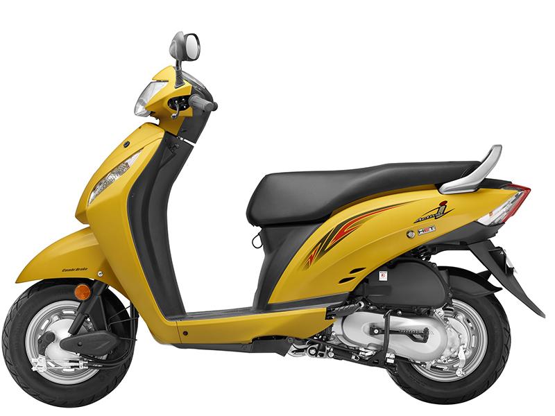 Honda Activa-i_Pearl Trance Yellow