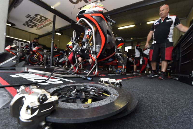 TeamAprilia Racing Team Gresini (Aprilia) ambiance during Moto GP race of the Nettherlands TT Grand Prix at Assen circuit from June 25 to 27th, 2015 in Assen, Netherlands - Photo Studio Milagro / DPPI