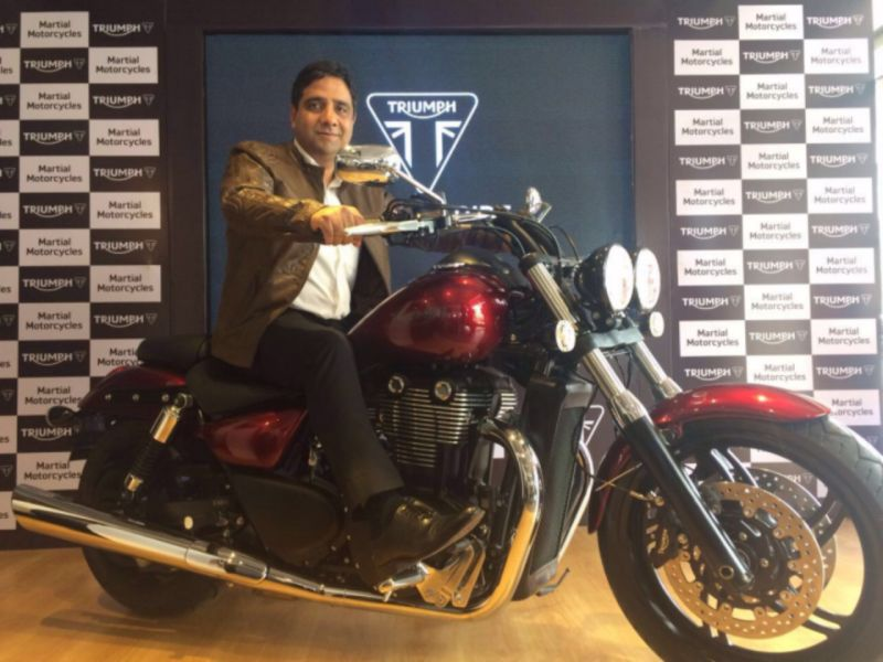 Triumph Open New Vijayawada Dealership Bike India