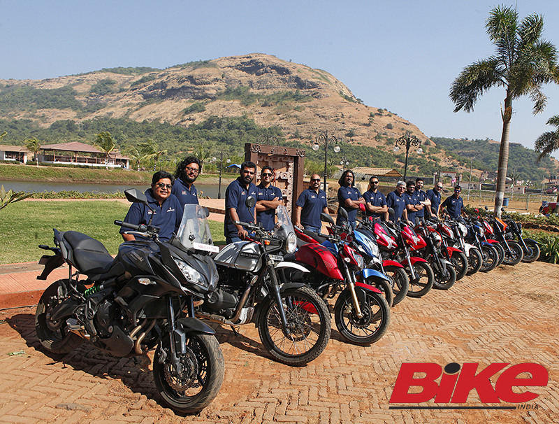 The Indian Motorcycle of the Year 2017 jury with the top contenders