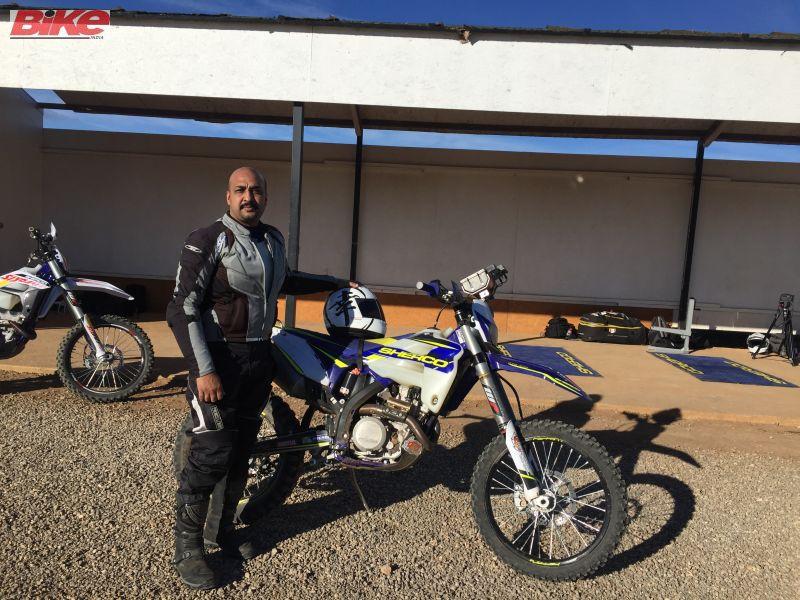 Sarmad with the Sherco TVS Racing Baja 450