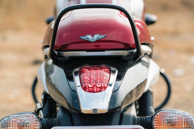 2017 Bike India new Bajaj V12 Review tail lamp taillights back