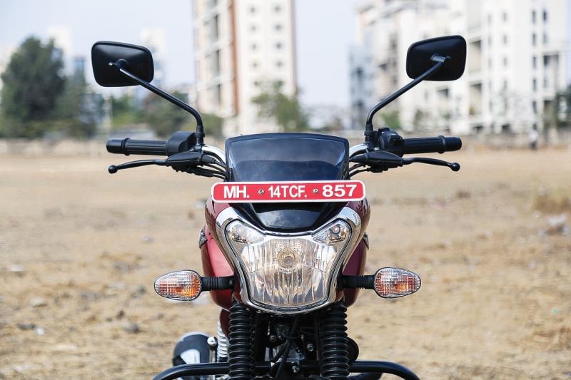 2017 Bike India new Bajaj V12 Review headlamp head lights