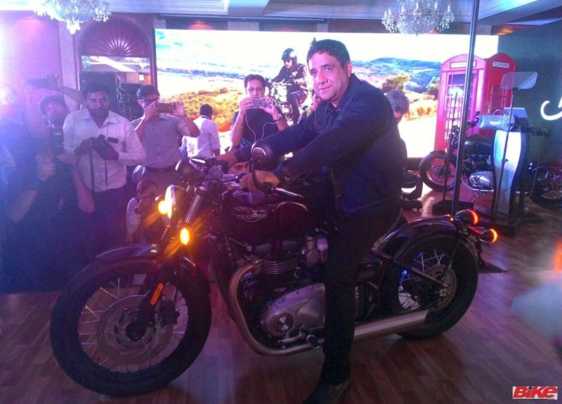 Vimal Sumbly launches new Triumph Bobber in India