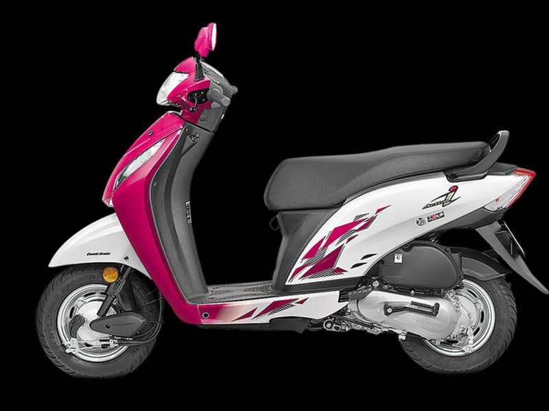 new, bike, india, honda, activa-i, pink, white, scooter, launched, bs-iv, aho, news
