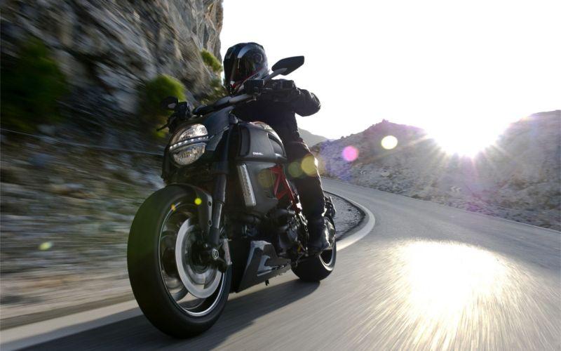 Ducati Diavel motorcycle AHO headlight on in India