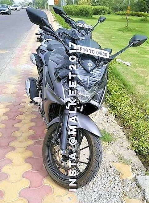 Yamaha 250 bike spied in India