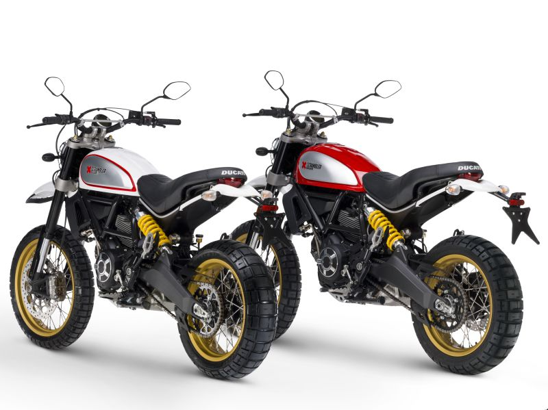 Two choices of colour Ducati Scrambler Desert Sled