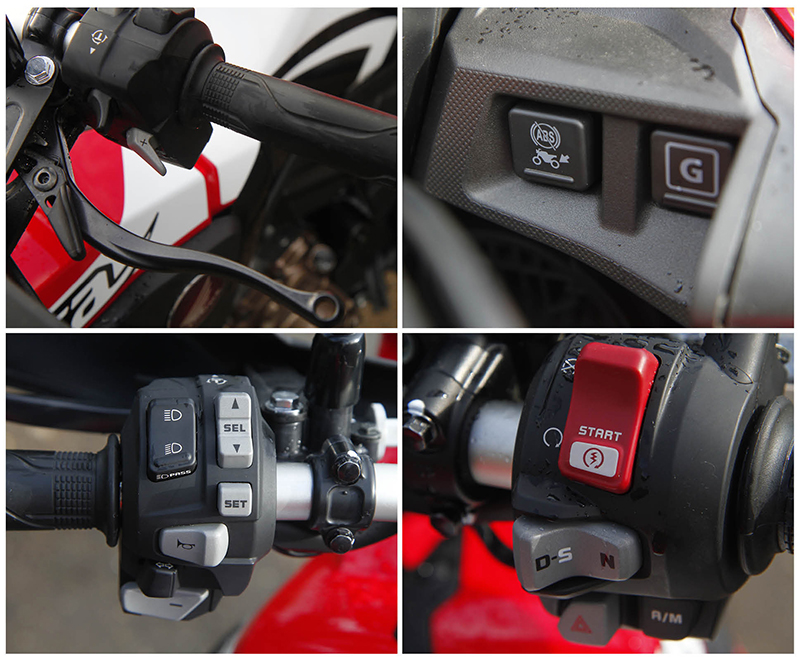 Honda Africa Twin Bike India Review traction control
