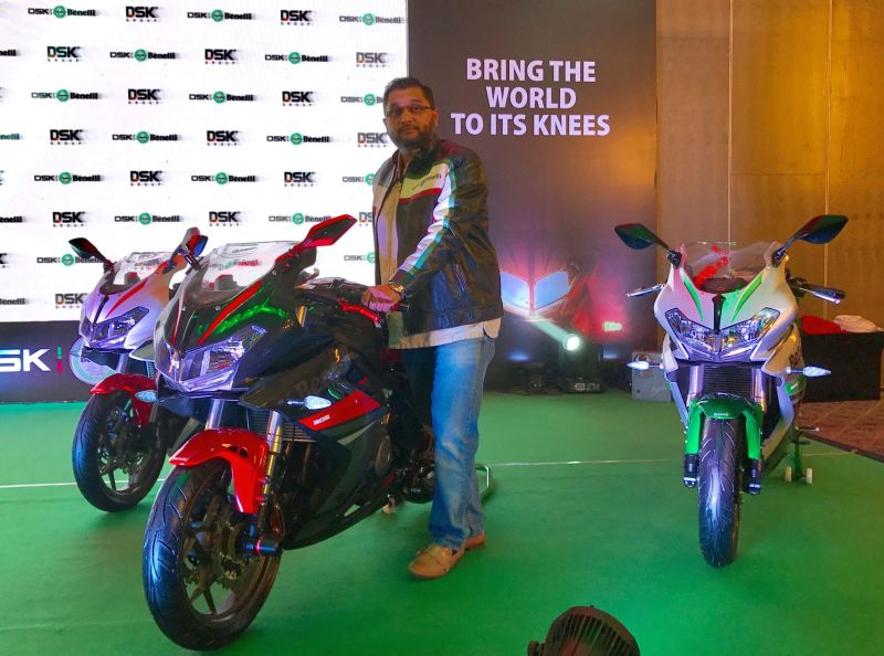 Three colour options of DSK Benelli 302R