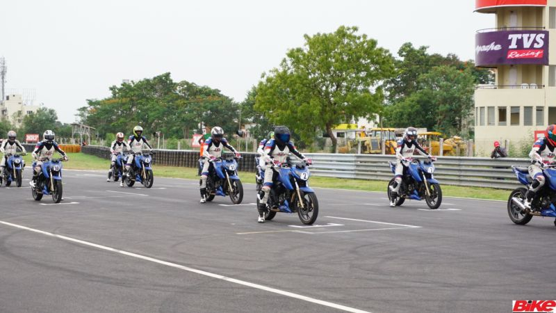 new, bike, india, tvs, young, media, racer, programme, racing, chennai, racetrack, race, feature