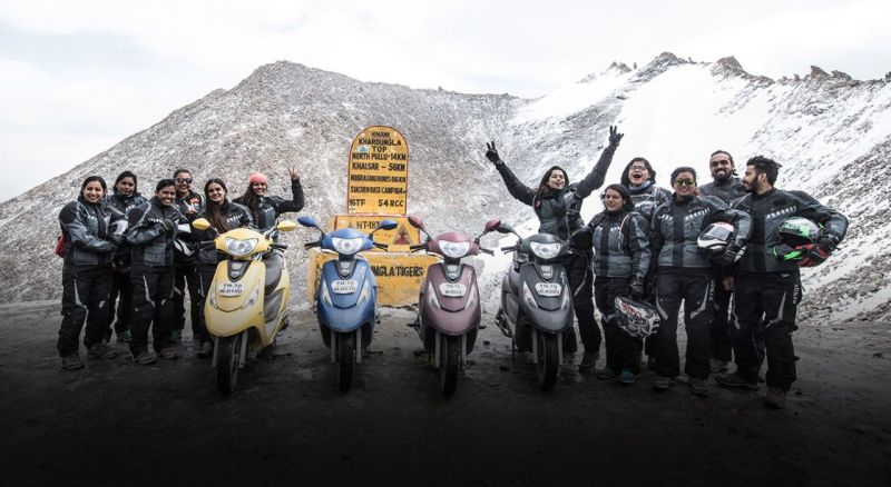 Riders from TVS Himalayan Highs Season 3 celebrating the feeling of power M2