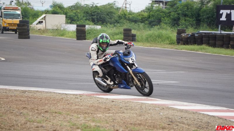 new, bike, india, tvs, young, media, racer, programme, apache, rtr 200 4v, hjc, track, racing, feature