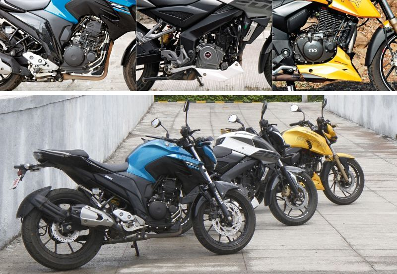 Yamaha-FZ-25-250-Bajaj-Pulsar-200-TVS-RTR-Apache-200-Compare-test-Bike-India-M8