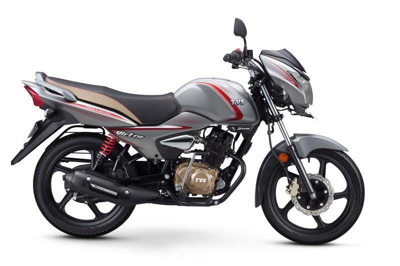 TVS Victor Matte Silver-Bike-India-launch-Price-M1