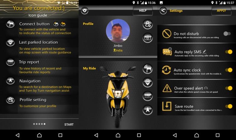 TVS Ntorq App web