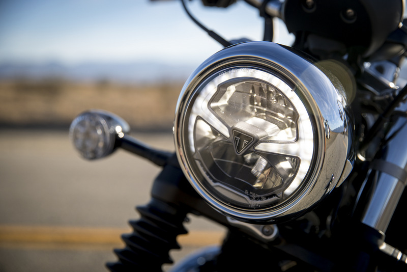 The Halo LED DRL on the Triumph Bonneville Speedmaster is a nice touch