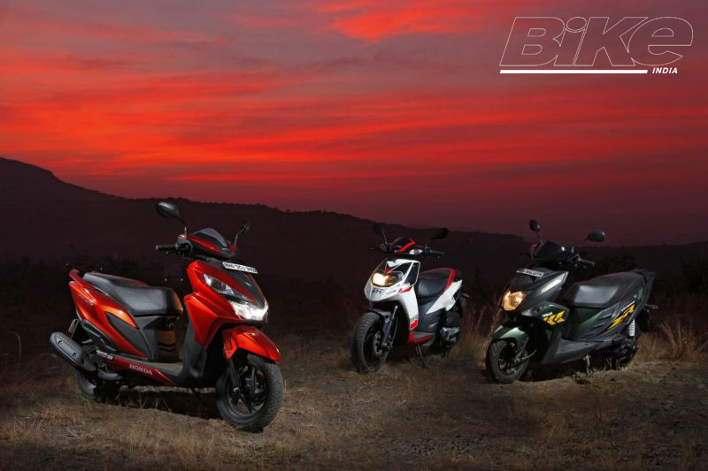 2018 Indian scooter compare price and specs - Honda Grazia Yamaha Ray ZR Aprilia SR 125