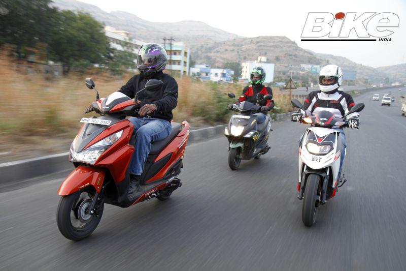 2018 Indian scooter compare price and specs - Honda Grazia Yamaha Ray ZR Aprilia SR 125 M3
