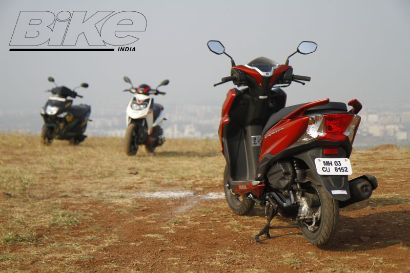 2018 Indian scooter compare price and specs - Honda Grazia Yamaha Ray ZR Aprilia SR 125 M5