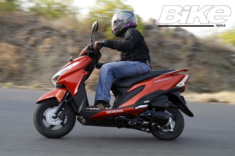 2018 Indian scooter compare price and specs - Honda Grazia