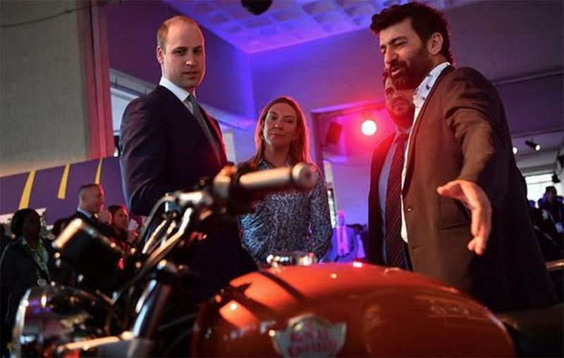 At an event held recently in United Kingdom, Prince William's attention was caught by the Royal Enfield Interceptor 650 Twin
