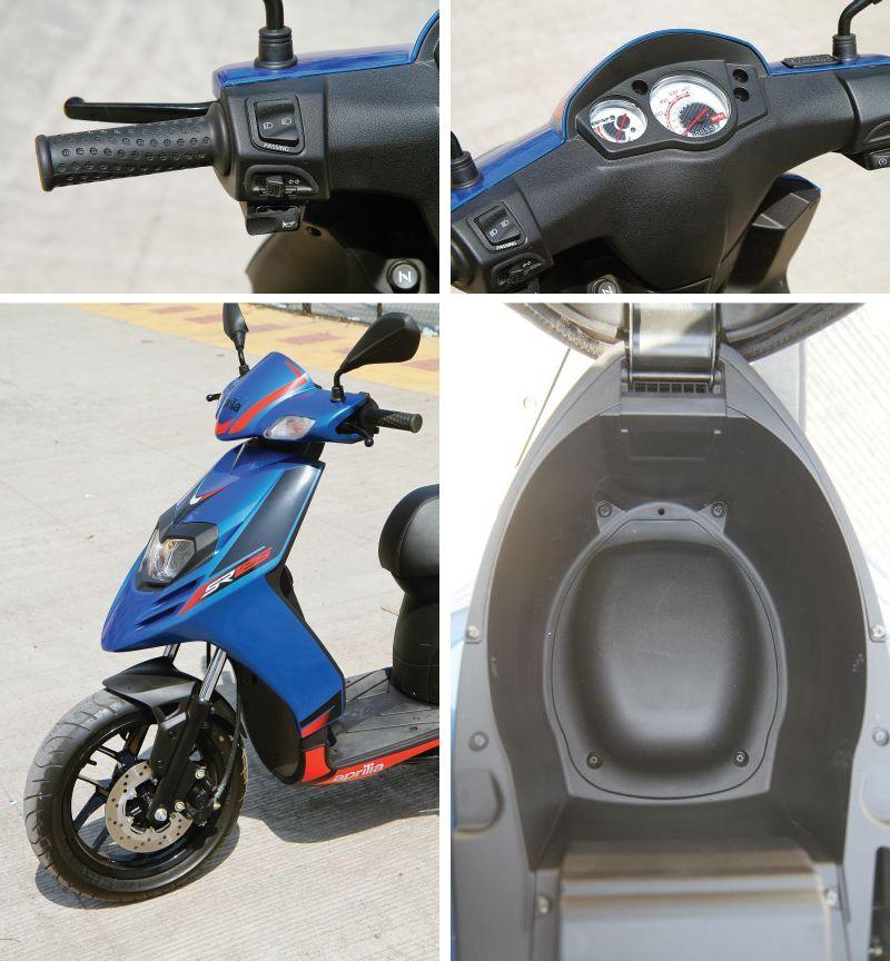 Aprilia SR 125 scooter details