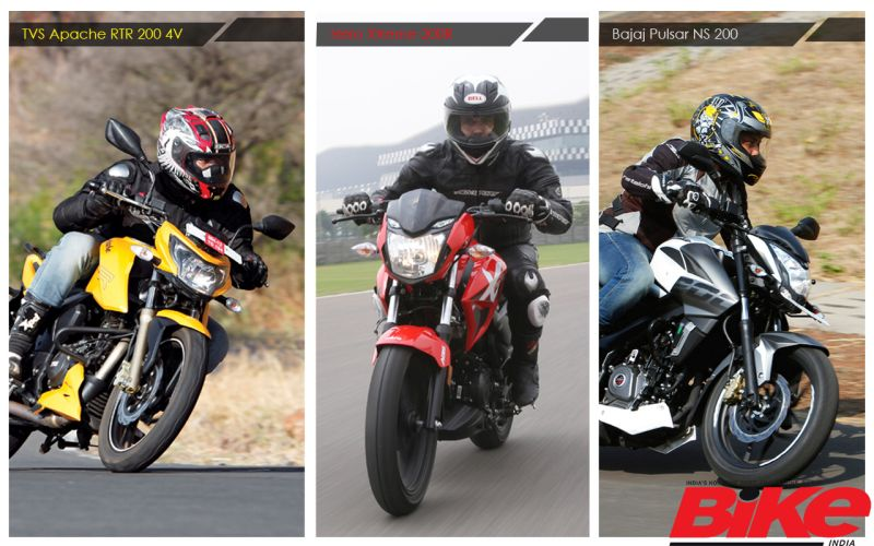 We compare the three contenders in the 200-cc naked motorcycle segment, on paper.