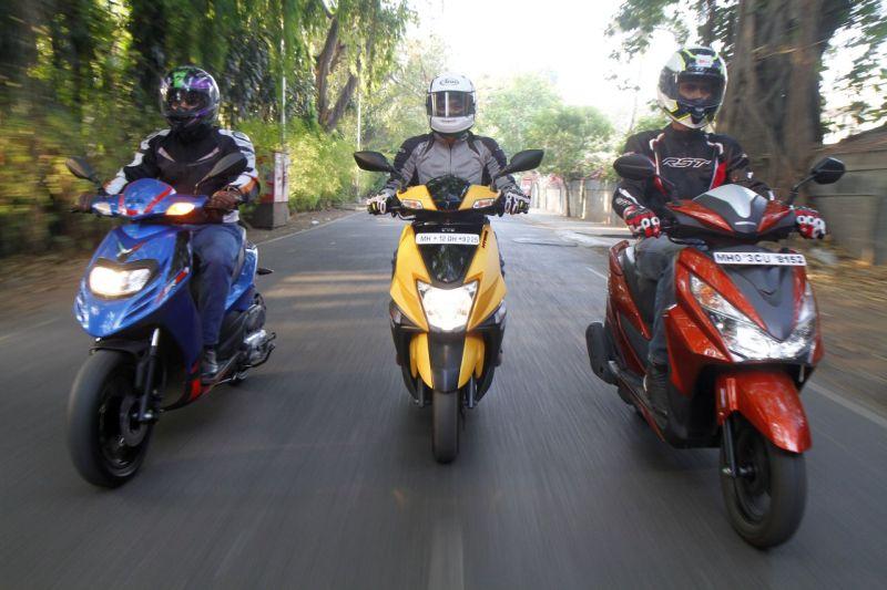 TVS Ntorq compare Honda Grazia and Aprilia SR 125