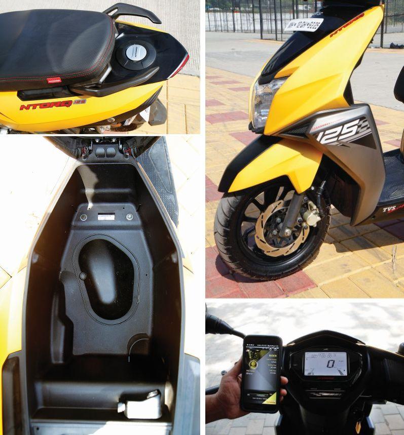 TVS Ntorq125 scooter details
