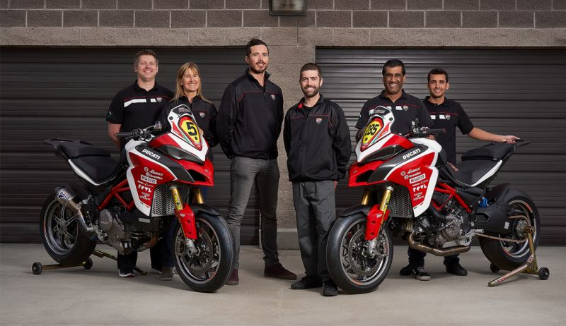 We take a short look at Ducati's record breaking team for this years Pikes Peak Hill Climb